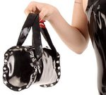 Latex handbag w.studs