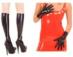 Latex Set Socken & Handschuhe